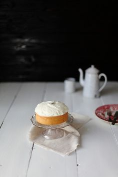 lavender cake with goat cheese icing via always with butter