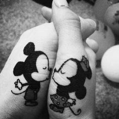 Mickey and Minnie Mouse<3 couple tattoo