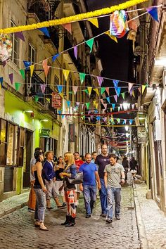 Hanging on the streets eating, drinking, dancing and having fun during the June Festivities #Lisboa #Portugal