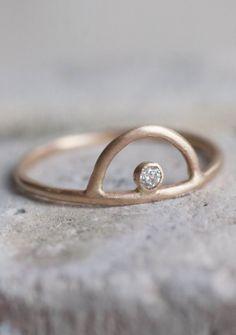 Diamond Sunrise Arc Ring   Mineralogy Design on Etsy
