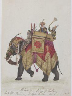 Akbar's Throne - Indian Elephant Art