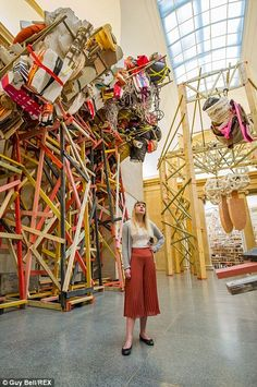 Phyllida Barlow, Variety: A number of planks of wood, painted in an array of colours