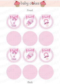 It's a Girl printable topper set by BabyCakesByBenny on Etsy, €4.20  I MADE IT! <3