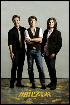 My 3 favorite guys on the entire planet: Hanson