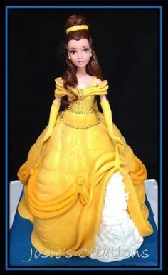 Princess belle doll cake More