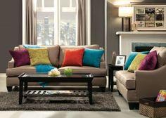 Upholstered Beige Sofa Nailhead Trim #SilverCoastCompany