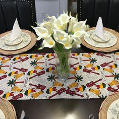 This beautifully vibrant table runners will make any space feel alive! All the colors and designs are sure to bring a little bit of Africa to any space. Excellent choice for table decor for an African theme home decor or party. African Theme, African Home Decor, Printed Curtains, Event Decor, Fabric Patterns, All The Colors, Table Runners, Room Decor, Table Decorations