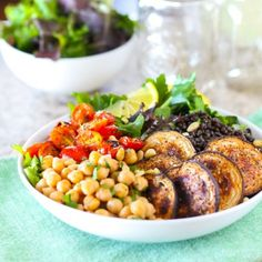 The Middle Eastern Bowl - plant-based protein, tons of veggies and LOADS of flavor, all in one dish!