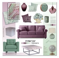 """Home- Living Room"" by anyasdesigns ❤ liked on Polyvore featuring interior, interiors, interior design, home, home decor, interior decorating, Catherine Malandrino, Osborne & Little, Karlsson and Heal's"