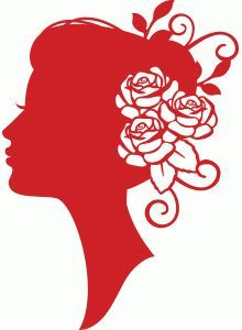 Fleur Silhouette, Silhouette Curio, Silhouette Files, Silhouette Design, Silhouettes Féminines, Kirigami, Jay Rockefeller, Scan And Cut, Scroll Saw Patterns
