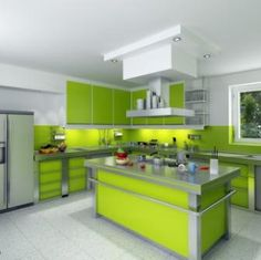 Green Kitchen Set Design Model The Of Sets Is One Colors A Comple