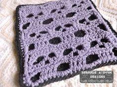 Skull Dishcloth/potholder pattern #freepattern #crochet