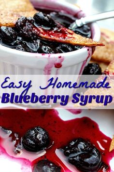 Looking for a twist on the everyday pancake breakfast? This homemade blueberry syrup recipe is easy & It is only 3 ingredients I bet you already have!