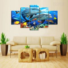 Marine Life Painting - 5 Piece Canvas  #prints #printable #painting #canvas #empireprints #teepeat