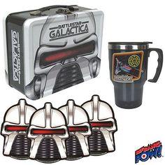 FabGearUSA - Battlestar Galactica Cylon Tin Tote Gift Set, $39.95 (http://www.fabgearusa.com/battlestar-galactica-cylon-tin-tote-gift-set/)