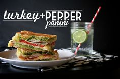 Turkey Pesto Red Pepper Panini