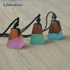 Handmade Wood Resin Necklace~ https://dillyalohas.com/collections/whats-trending Regular price $12.00