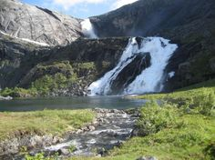 Søtefossen, Husedalen valley, Hordaland, Norway