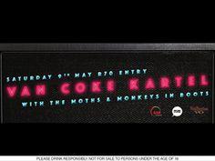 @ Arcade Empire M A I N S T A G E * MONKEYS IN BOOTS * THE MOTHS  * VAN COKE KARTEL  D J S T A G E * TBA