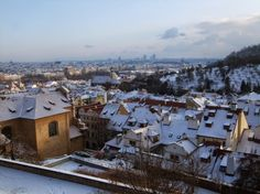 The view from the Starbucks at Prague castle. Christmas 2014