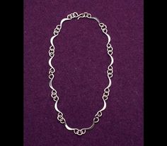 18 inch hand wrought sterling silver necklace, number 123.