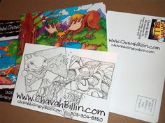 HA-VA Can Draw - Chavah Billin Illustration Blog: NEW Promotional Postcards are... MAILED!