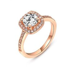 Trendy Brand New Jewelry Womens Copper Wedding Ring Rose Gold