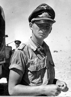 Luftwaffe officer in North Africa. (POW ?)