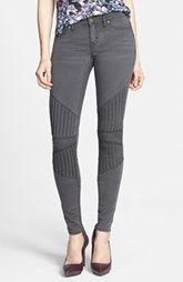 Dittos Seamed Moto Skinny Jeans (Grey Black Doheny)