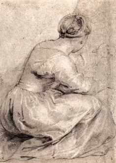 Peter Paul Rubens, The Girl Squatted Down, 1617-1618. 38 x 27 cm.