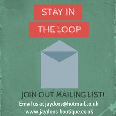 Join our mailing list to be the 1st to receive details on our up & coming promotions + receive exclusive promo offers limited to mailing list subscribers, it's free to subscribe x #jaydonsboutique Promotion, Join, Free