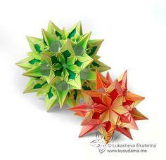 Origami Maniacs: Origami Mandragora Kusudama by Ekaterina Lukasheva