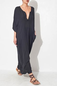 Black Maxi Dress by Raquel Allegra | shopheist.com