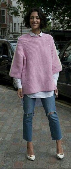 Spring Look    Picture    Description  Yasmin & her Jackie J S Lee jumper. brilliant. London. #YasminSewell     https://looks.tn/season/spring/spring-look-yasmin-her-jackie-j-s-lee-jumper-brilliant-london-yasminsewell/