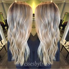 Platinum baby blonde balayage highlights