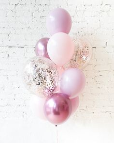 Shades of Mauve Palette Confetti and 11in Balloons - bouquet of 10 — Paris312 Elegant Bridal Shower, Balloon Bouquet, Mauve, Confetti, Have Fun, Balloons, Shades, Celebrities, Birthday