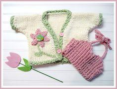 Knitting Pattern Springtime Sun Set Cardigan and by LaurelArts, $5.00