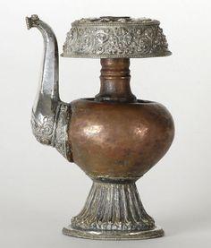 Old Tibetan Buddhist Ritual Vessel Bumpa.