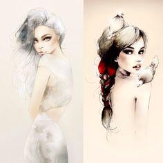 Illustrations par Joanne Young : Poétiquement Mode