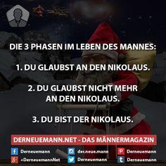 3 Phasen #derneuemann #humor #lustig #spaß #weihnachten #sprüche