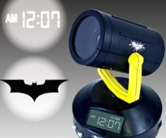 Shine your Bat-signal on your bedrooms walls to keep evil criminals cowering in fear. This alarm clock shines the time and Batmans favorite symbol brightly in your room.