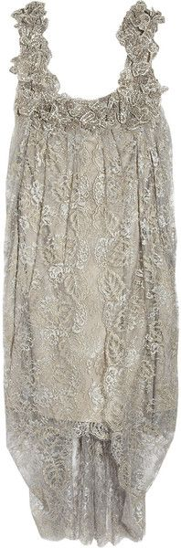 Marchesa Embellished Lace and Silk Dress - Lyst