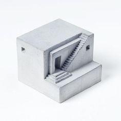 Miniature Concrete Home Architectural Model/ Desktop sculpture/ House model Architecture Design Concept, Detail Architecture, Plans Architecture, Concrete Architecture, Classical Architecture, Maquette Architecture, Kindergarten Architecture, Kindergarten Design, Cement Art