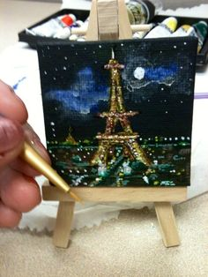 Mini canvas in acrylic.