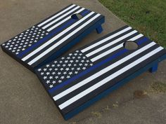Police Lives matter corn hole set