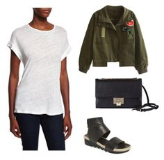 """""""I want 😍"""" by indahhalit on Polyvore featuring WithChic, Frame Denim, Eileen Fisher and Jimmy Choo"""