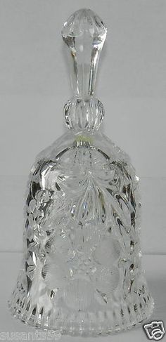 """7 3/4"""" Tall Crystal Glass Bell. """"SALE"""""""