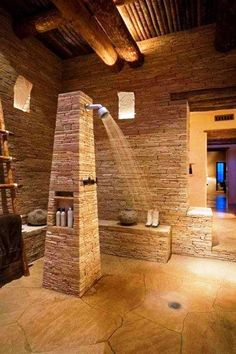back to nature stone-bathroom-designs-