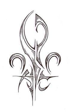 Tribal Fleur De Lis Tattoo Design