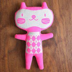 NEON PINK cat Doll - Ari $23